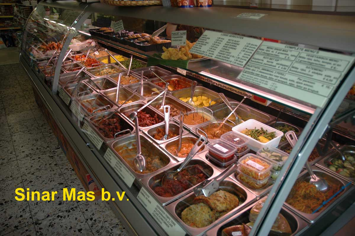 Sinar mas b v indonesische catering en partycatering in for Vitrine indisch